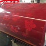 Bobina de acero de la capa de la hoja de acero del color del diseño del modelo de flor