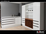 Welbomの高品質の白いラッカー現代ワードローブ