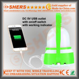 Mejor Vendedor recargable linterna que acampa de salida USB