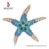 新しい方法多色刷りの美しい動物のヒトデの形のラインストーンのブローチの宝石類