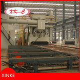 Machine de nettoyage de soufflage de sable de plaque en acier