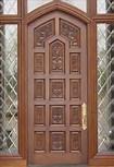Porta de madeira contínua com qualidade First-Class