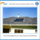 Coletor solar rachado do aquecimento de água
