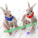 Brinquedo macio do luxuoso do canguru do animal enchido do presente do bebê EN71