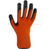 Gants fonctionnants protecteurs de travail enduits par pli de latex de ligneur de filé de Terry (LH702)