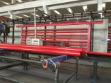 A tubulação de aço pintada vermelha de Weled com sulcou cada extremidade para a luta contra o incêndio