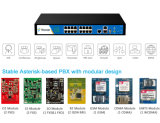 16 analoge Havens IP PBX met GSM Optional 50 Concurrent Call PBX