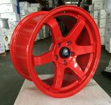 Auto rodas de venda quentes da liga para o carro Te 37 14 '' 15 '' 16 '' 17 '' 18 '' polegadas