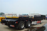 13 mètres de 2-Axle de lit plat bas/de Lowboy remorque semi, remorque de camion