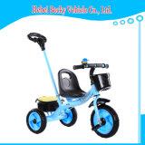 中国の赤ん坊の三輪車のベビーカーはセリウムが付いている三輪車のスクーターのバイクをからかう