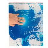 Telha líquida azul para a decoração do assoalho