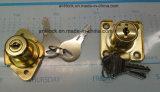 사방형 서랍 자물쇠, 황금 서랍 자물쇠 알루미늄 106g