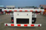 3-Axle gerader Behälter-Flachbett-halb Schlussteil des Träger-40FT/LKW-Schlussteil