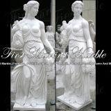 Statua di quattro stagioni bianca Mano-Intagliata Ms-193 di Carrara del granito della pietra del marmo della scultura
