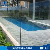vidrio de la cerca del vidrio laminado del vidrio Tempered del vidrio de flotador del claro de 6m m