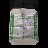 bolso tejido 50kg de la válvula del cemento del papel de Kraft del polipropileno de 20kg 25kg