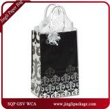 Sac de transporteur de papier élégant mat de mini noir de paquet de clients de Versailles avec le traitement de coton