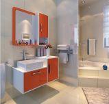Gabinete de banheiro pintado branco do PVC (wy-005)