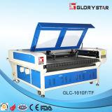 O dobro dirige gravura do laser da tela a auto e máquina de estaca de alimentação