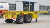 [20فت] 2 محور العجلة [30ت] هيكليّة وعاء صندوق شاحنة [سمي] مقطورة من الصين مصنع