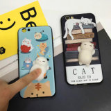 Cajas blandas modificadas para requisitos particulares del teléfono del silicón 3D para el iPhone 6/6s más el caso 7 7plus