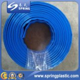 Perfil plano de PVC flexible de la manguera, la manguera de la bomba de agua, la manguera Layflat