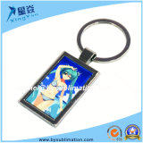 Vierecks-unbelegtes Sublimation-Metall Keychain
