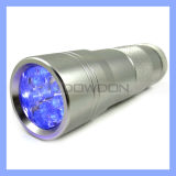 12 diodo emissor de luz Flashlight UV Torch para Hygiene Checks e Detecting Pet Urine (TORCH-01)