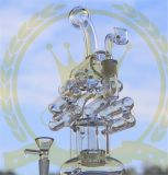 第三世代のすてきな卵の頭骨のHandblown Pyrexの再資源業者のコレクションのピンクの高い紫色の石油掘削装置の軽打ガラスのタバコのための煙る配水管