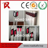 Roadsafe Reflectivve WARNING, das flexiblen Kurbelgehäuse-Belüftungdelineator-Pfosten führt