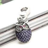Шкентель шарма сыча эмали пурпуровый кристаллический для браслета ожерелья DIY