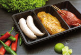 Schwarze pp. Disposable Fresh Meat Containers mit Absorb Pad