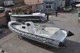 Barco razonable de la costilla del barco de pesca de la fibra de vidrio del diseño de Liya los 8.3m China con el casco rígido