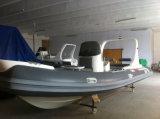 Liyaの釣のための船外モーターの中国のガラス繊維のボート6.2mの堅く柔らかいボート