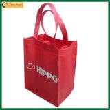 Sacs réutilisables en bloc de vin de sacs d'emballage de bouteille (TP-WB001)