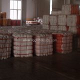 Gelber Polyineinander greifen-Beutel für Verpackungs-Brennholz