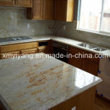 Kitchen Bathroom (YQC-GC1005)のための帝国Gold Granite Countertop