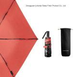 Der faltende einfache Miniregenschirm tragen Pocket faltenden Regenschirm