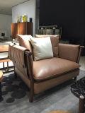 Mit hoher Schreibdichteschwamm-Ecken-Italien-ledernes Sofa