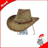 Chapéu de palha da arremetida, chapéu de vaqueiro, chapéu de palha oco, chapéu de palha