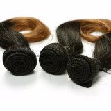 """Keine verschüttende gerade Remy menschliche brasilianische Haar Ombre Farbe 8 """""""