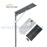 Réverbère solaire Integrated élevé des prix les plus inférieurs DEL de lumen 5W-120W