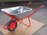 Carrinho de mão de roda de aço de Rússia com alta qualidade (Wb6438)