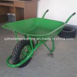 Wheelbarrow Wb6400 do mercado de Médio Oriente da cor verde