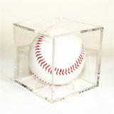 투명한 색깔 아크릴 야구 전시 상자를 주문을 받아서 만드십시오