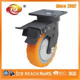 La pisada de 6 pulgadas modela el echador resistente de la rueda del eslabón giratorio