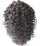 꼬부라진 브라질 Remy 머리 가발 아기 머리를 가진 가득 차있는 레이스 가발