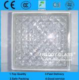 Bloco de vidro/tijolo de vidro/tijolo de canto de vidro/tijolo do ombro/bloco de vidro transparente
