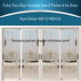 Portello scorrevole di alluminio di vetro di doppio strato di buona qualità di prezzi di fabbrica per il viale