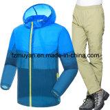 防水紫外線に着せる軽量の二つの部分から成ったスーツの日焼け止めの皮